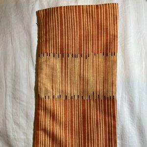 Rectangle Orange Striped Bolster Pillowcase